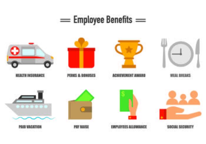 Set Of Employee Benefits Icons