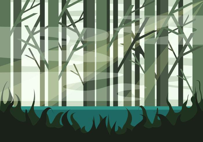 Swamp Illustration Vector #2
