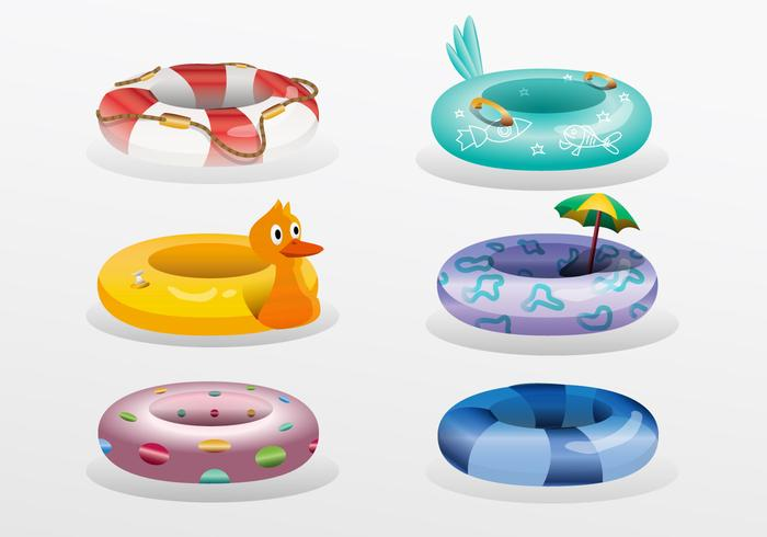 Colorful Innertube Vector Collection