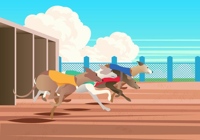 Race whippet vectorielle
