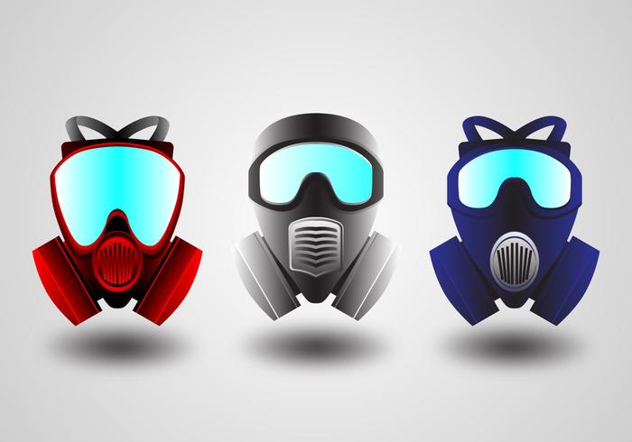 Gas mask respirator vectors