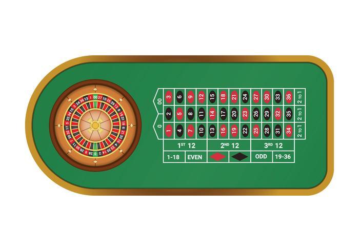 Tabla libre de la ruleta americana vector