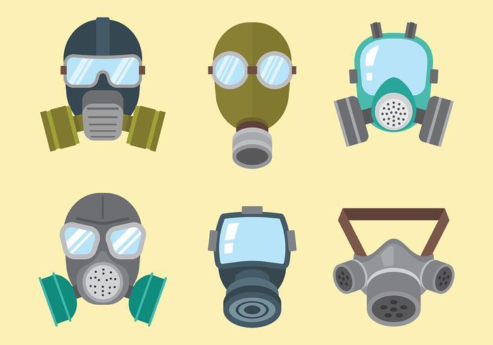 Respirator Vector Icons
