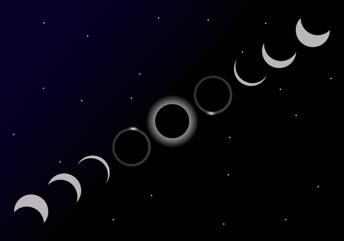 Solar Eclipse Cycle Vector