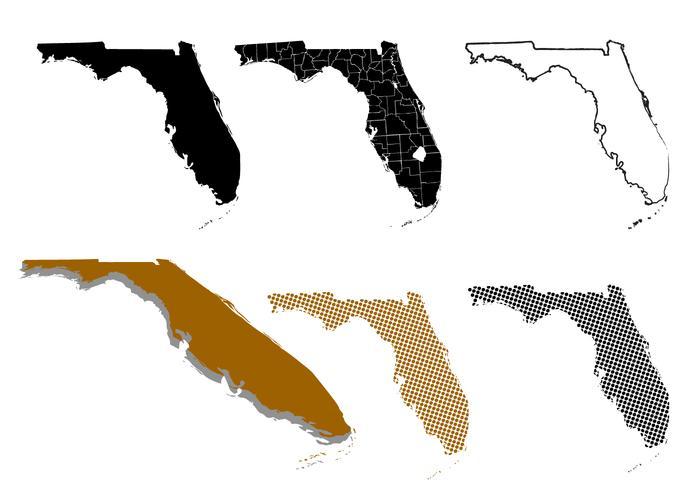 Silhouette Florida Karta vektor