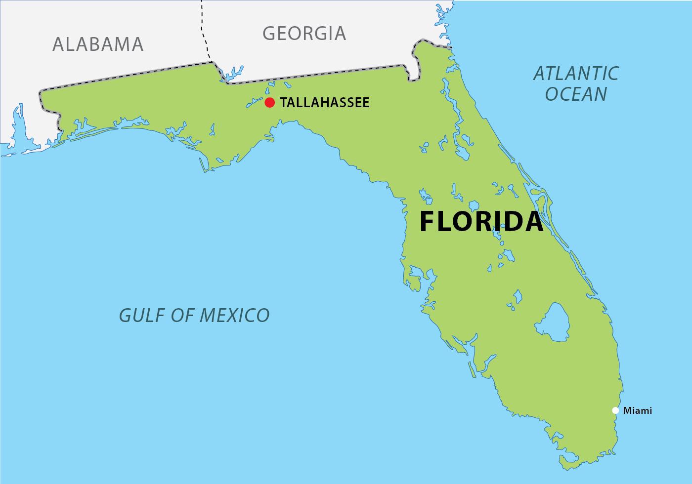 Florida Map With Capitol Vector Download Free Vectors Clipart