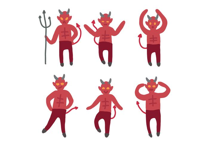 Lucifer Cartoon Drawing Vectors