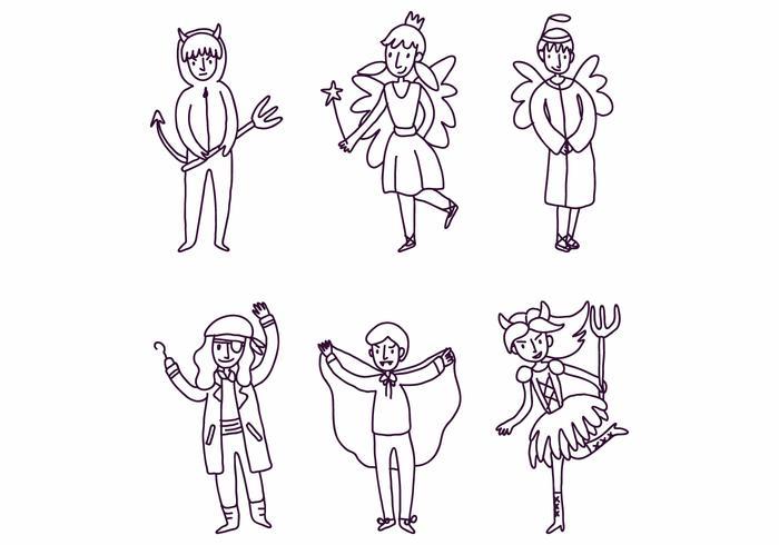 Barn med kostymer