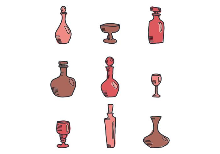Red Decanters