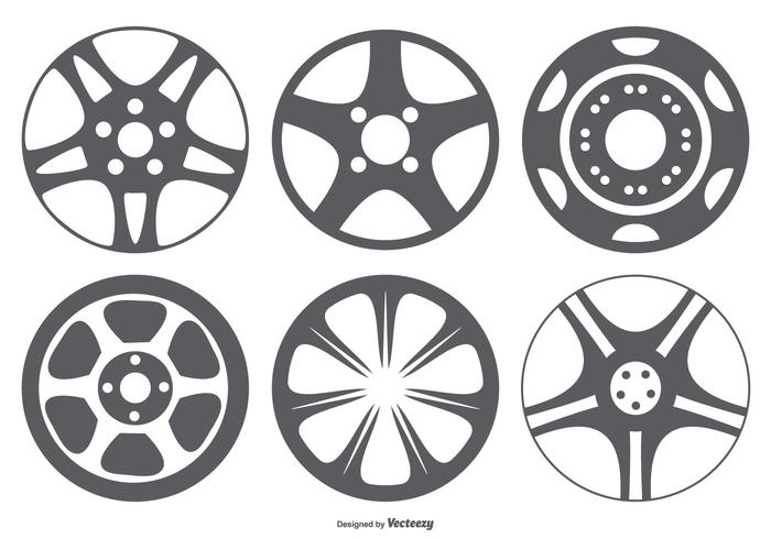 Hub Cap Vector Shape Collection