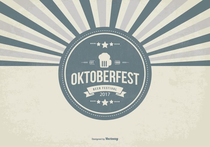 Retro Oktober Fest Illustration vector