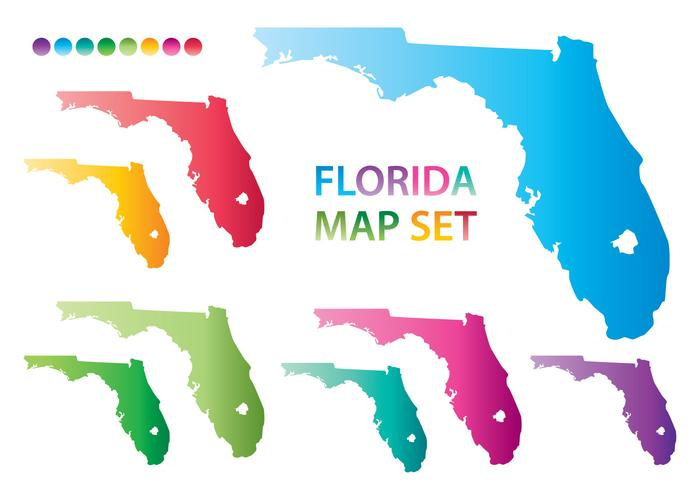 Colorful Florida Map Vectors Download Free Vector Art Stock