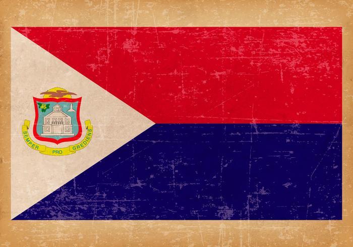 Grunge Flag of Saint Martin