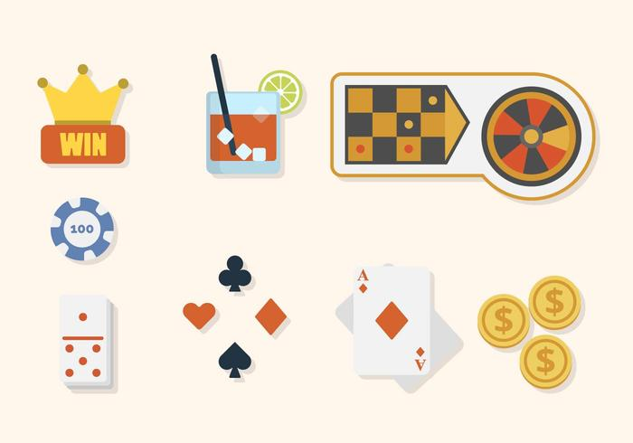 Vecteurs de casino plat vecteur