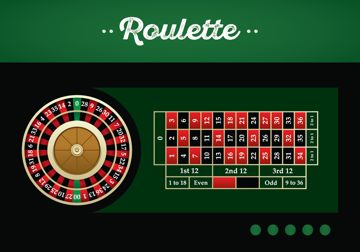 American Roulette Table Vector Illustration