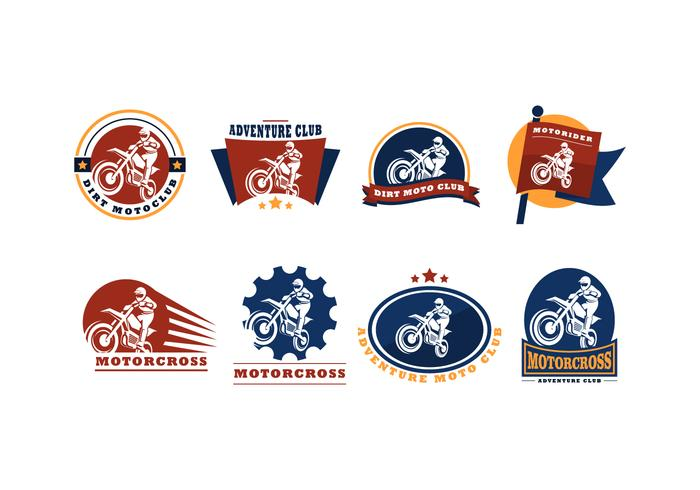 Vector de logotipo do Motor Cross gratuito