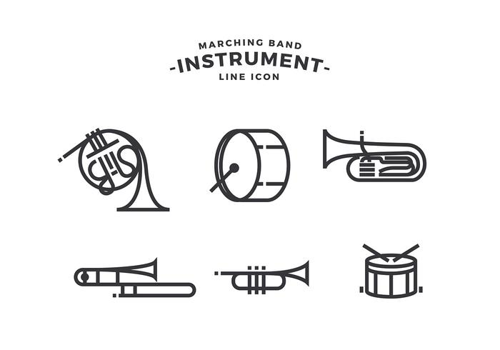 Marching Band Instrument Free Vector