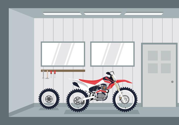 Vector de garagem de motorcross grátis