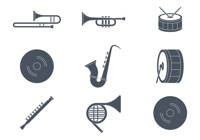 Marching Band Instruments vector