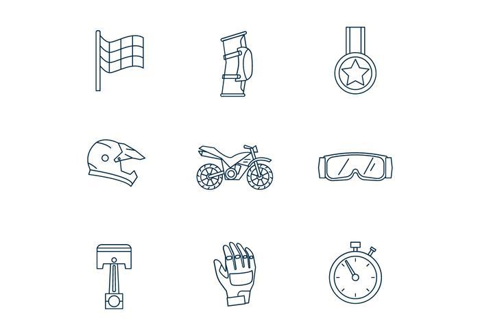 Motorcross Icons