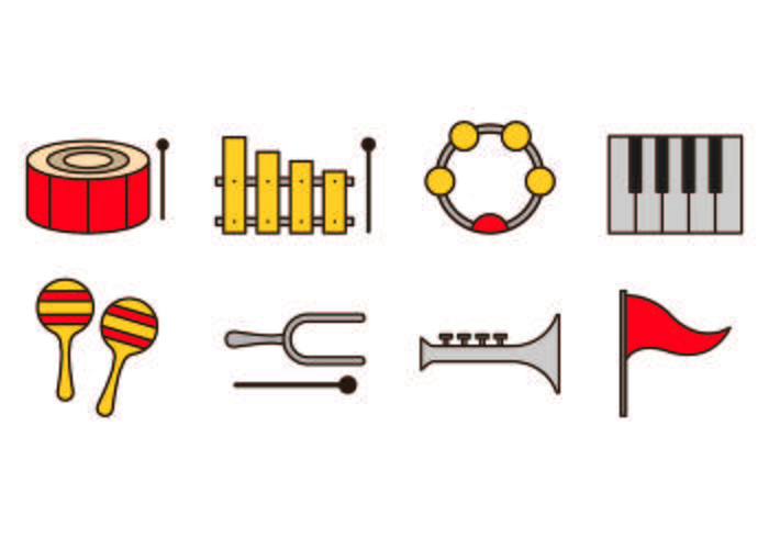 Set Of Marching Band Icons
