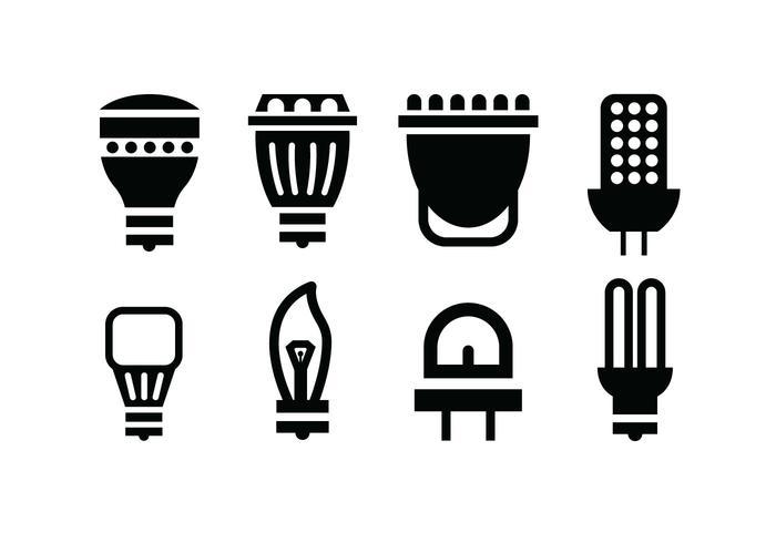 Glödlampa vektor ikoner