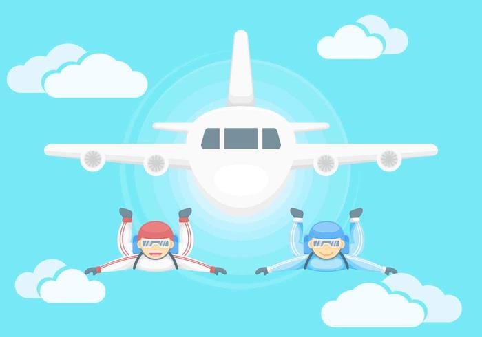 Des vecteurs de parachutisme exceptionnels gratuits