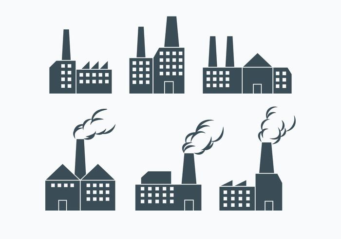 Factory Smoke Stack Vectors