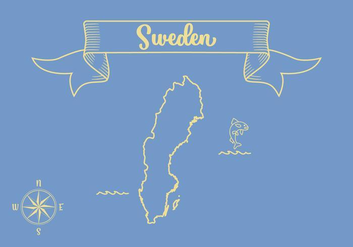 Sweden Map Outline