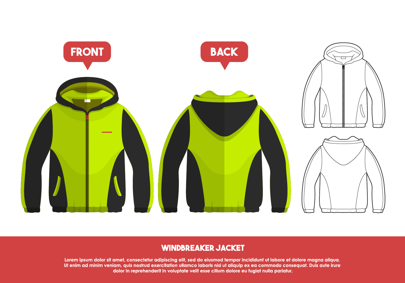 jacket template free vector art