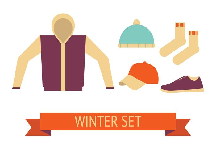 Vecteur de jeu d'hiver