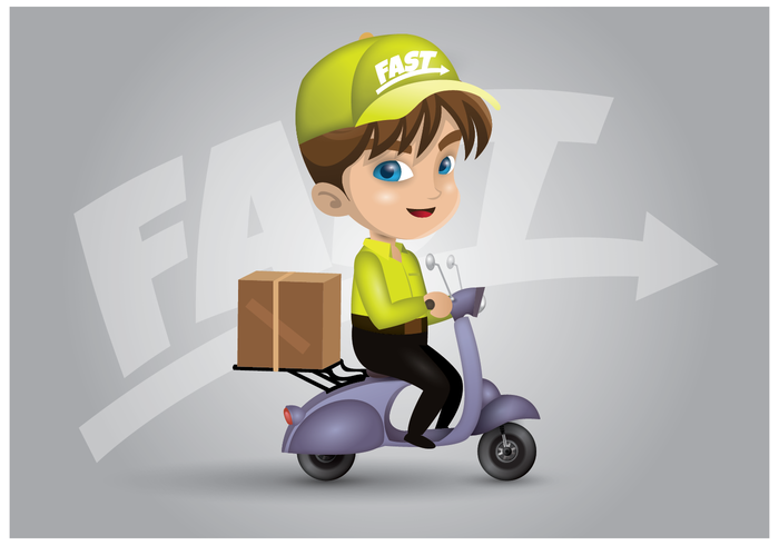 Free Mover Delivery Character Vector