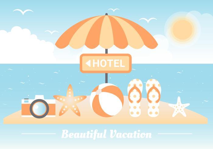 Free Summer Beach Elements Background vector