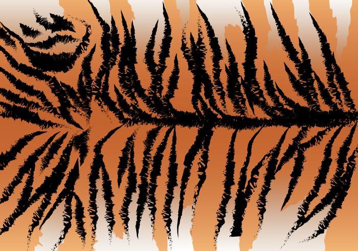 Wild Tiger Stripe Vector