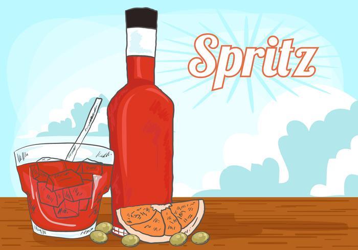 Vector Orange Spritz Background