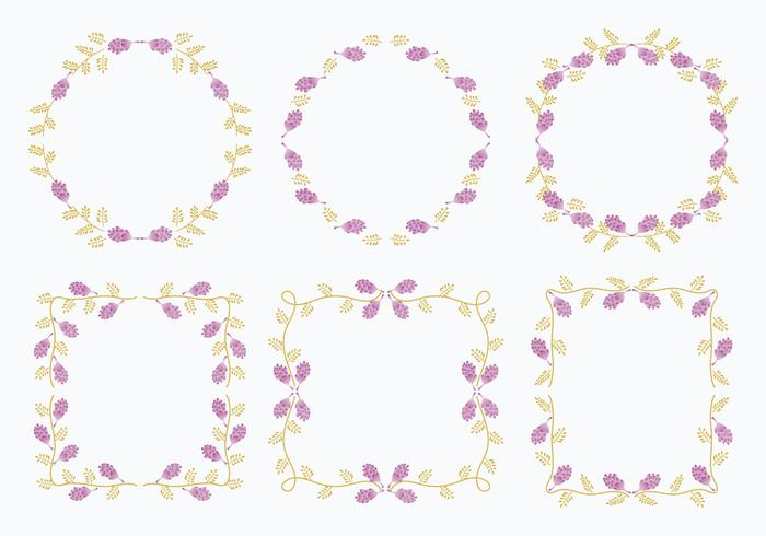 Licorice Flower Frame Template Element Vectors