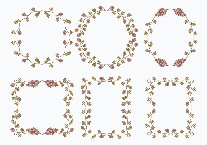 Licorice Flower Frame Template Graphic Elements - Download Free ...