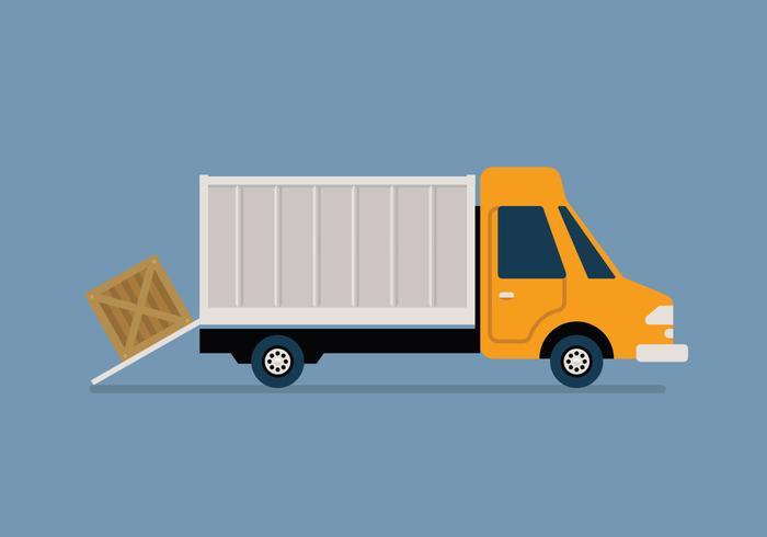 Moving van vector illustration