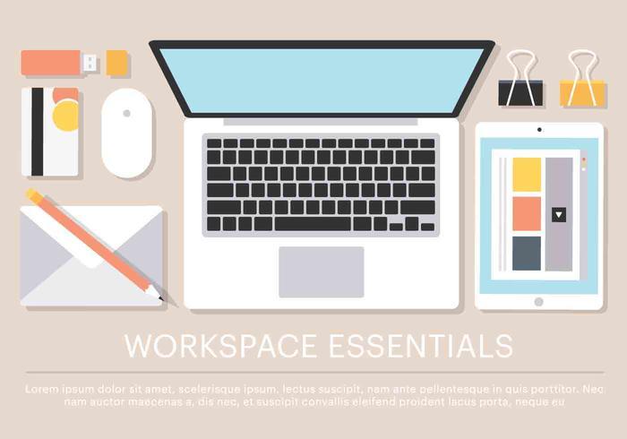 Free Vector Work Space Essentials