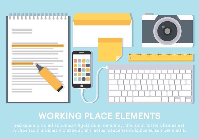 Free Vector Work Space Elemente