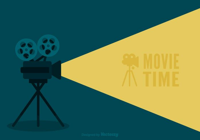 Retro Movie Cinema Vector Background