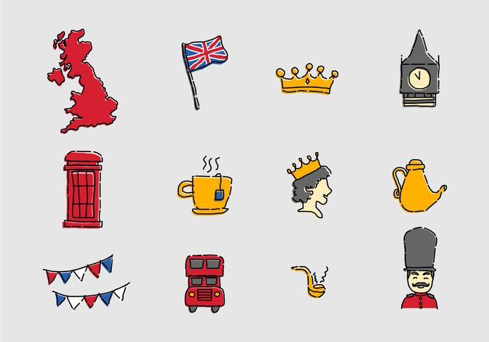 British - UK icons vector