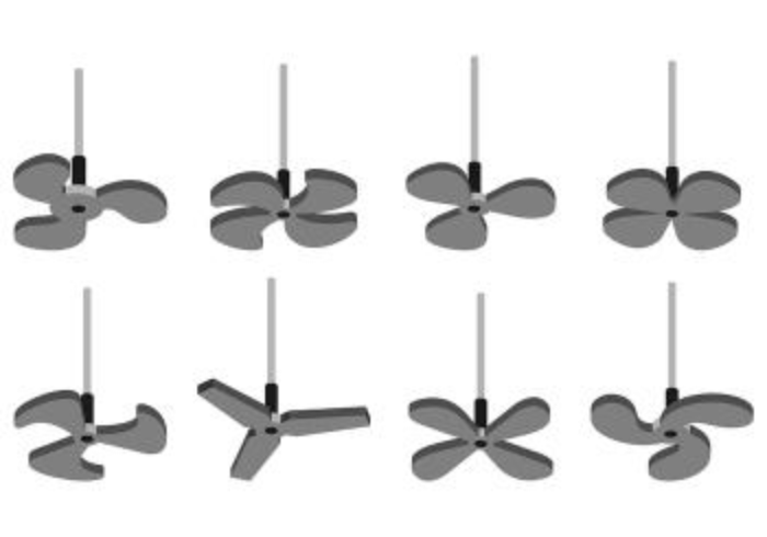 Set Of Ceiling Fan Icons vector