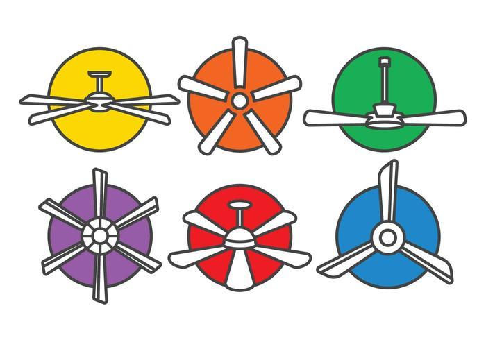 Plafondventilator vector set