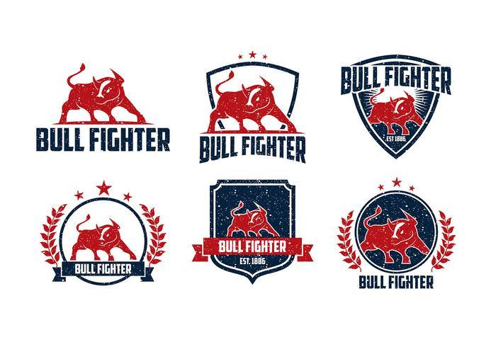 Bull Fighter Rough Logo Free Vector