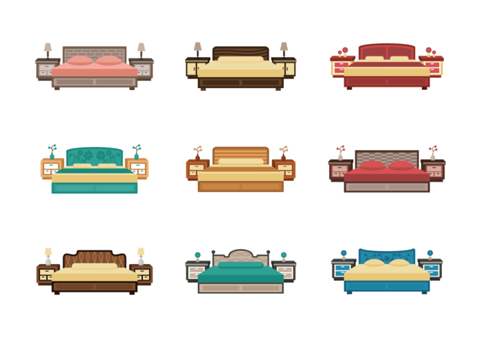 Headboard Icons Vector