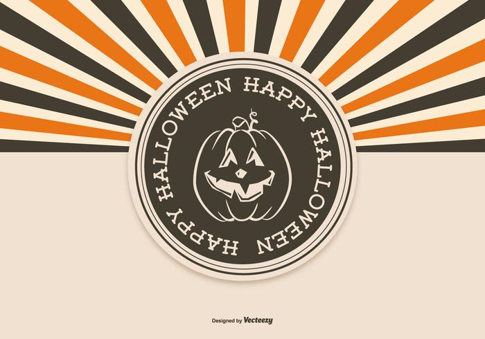 Retro Style Halloween Background vector