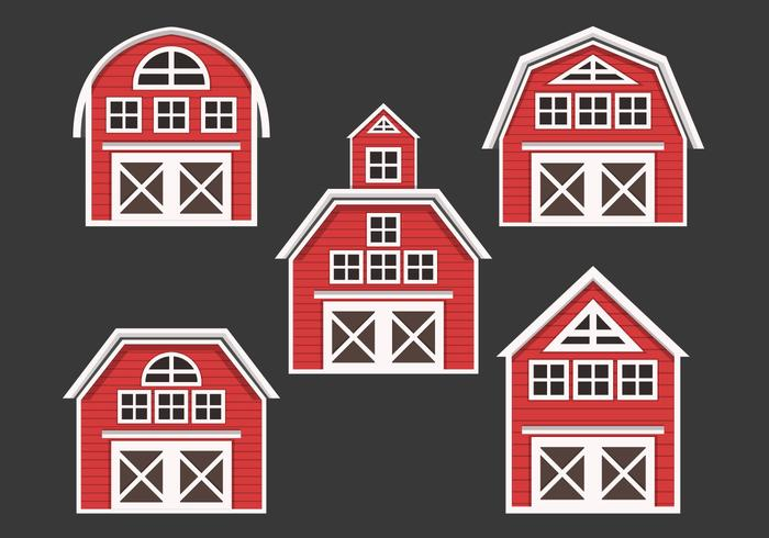 Collection Red Barn Vector