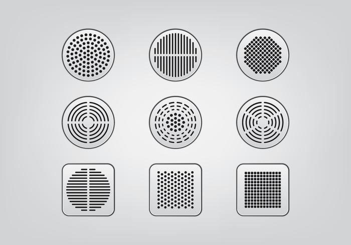 Speaker Grill Icons