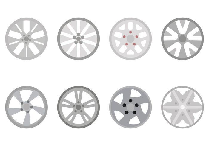 Flat Hubcap Vectors